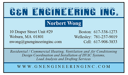 G and N Engineering business card